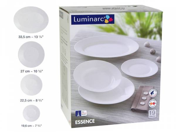 Сервиз Luminarc White Essence 19пр L3214 Франция
